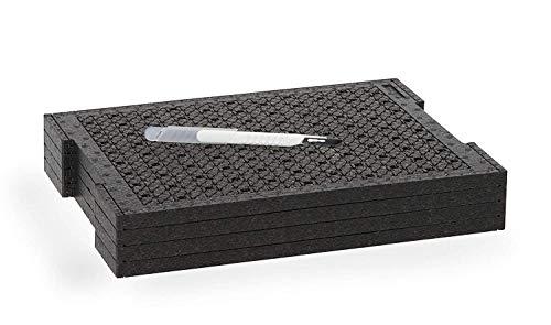 Bosch Sortimo Schnitteinlagen-Set | Kompatibel mit L-BOXX 102 | Werkzeugkoffer Einlagen Schaumstoff | Individuelle Sortimentskasten Einsätze