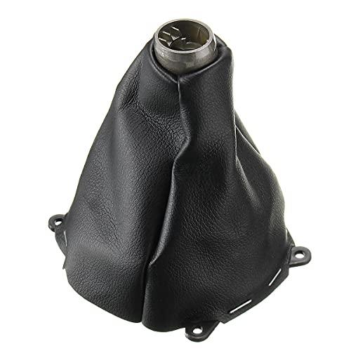 DFYYQ Tapa de la Perilla del Cambio de Marcha Manual PU Cuero Negro Cosido para Honda para Civic para SI 2006-2012