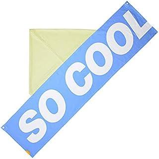 LEADWORKS(レッドワークス) クーリングタオル SO COOL ブルー 大判 フード付き 冷感タオル クールタオル ひんやりタオル 水に濡らすだけ 50816