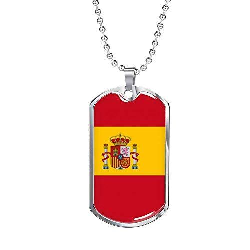 Collar Bandera España  marca Express Your Love Gifts