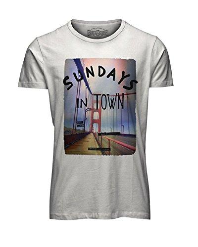 JACK & JONES T-Shirt Palemo Tee, Weiß, M