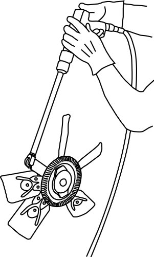 Lisle 43300 Pneumatic Fan Clutch Wrench