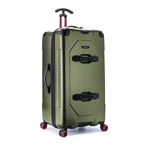 Traveler's Choice Maxporter 30' Hardside Spinner Trunk Luggage, Dark Green-Out of Stock