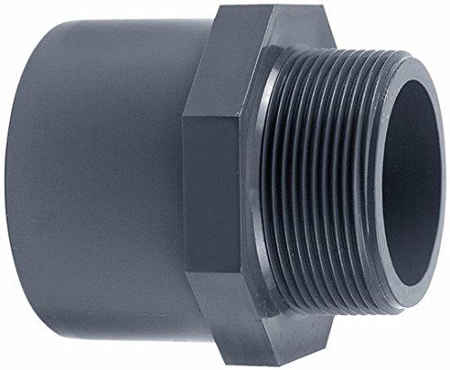 PVC übergangsmuffennippel (32–63 mm) – Manchon adhésives x Filetage extérieur 40mm (1.5 Zoll)