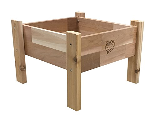 Gro Products 18-EGB1-1616 Elevated Garden Bed, 16 x 16 x 12, Cedar