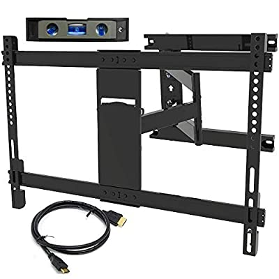 Everstone Compatible TV Wall Mount Bracket Replacement for Most 37-75 inch LED, LCD and Plasma Flat Screen TVs with VESA 600 x 400mm and Loading Capacity 111 LBS, Tilt with HDMI Cable