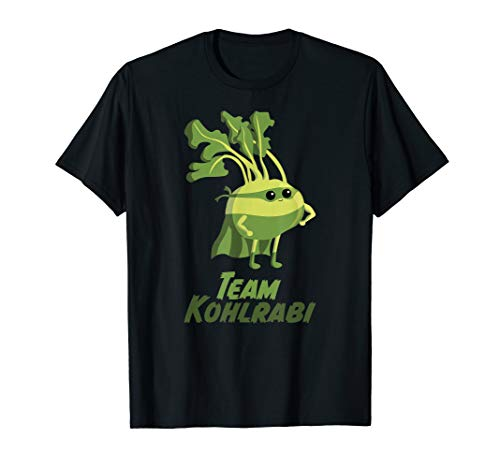 Kohlrabi   Gemüse Vegetarier Vegan Superfood Superheld T-Shirt