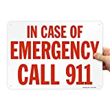 SmartSign'in Case of Emergency Call 911' Sign | 10' x 14' Aluminum