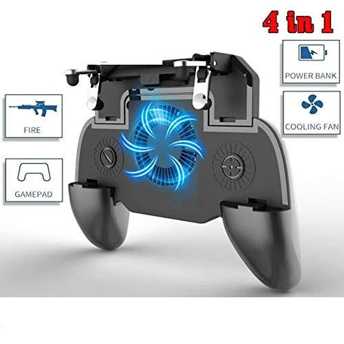 Geschikt voor PUBG gamepad controller mobiele trigger L1R1 schieten joystick gamepad mobiele telefoon radiator ventilator met 2000mAh mobiele voeding