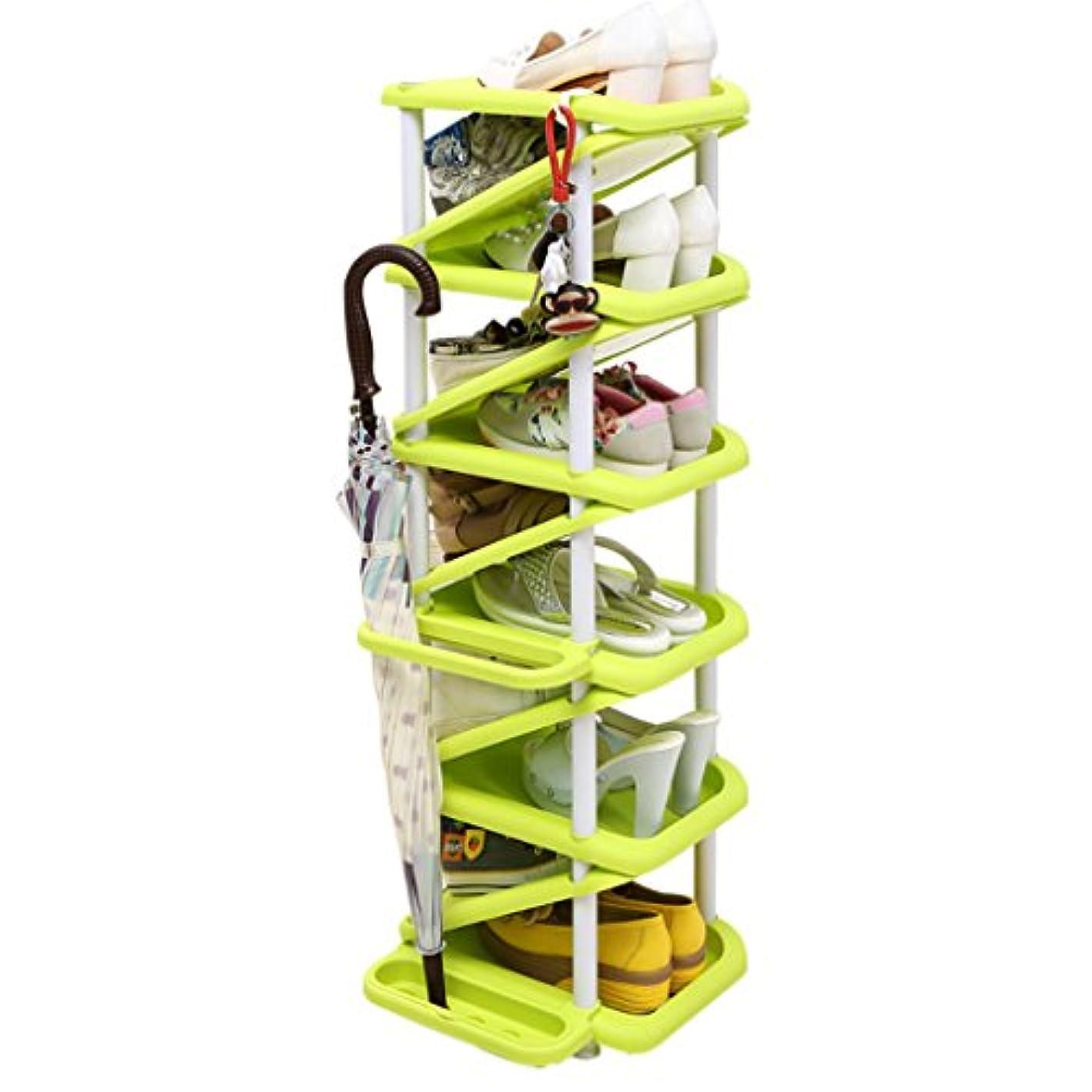 TangMengYun Shoe Rack Multilayer Plastic Shoe Rack, Organizer Storage, Storage Rack,Shoes Storage (Color : Green, Size : 2832101CM)