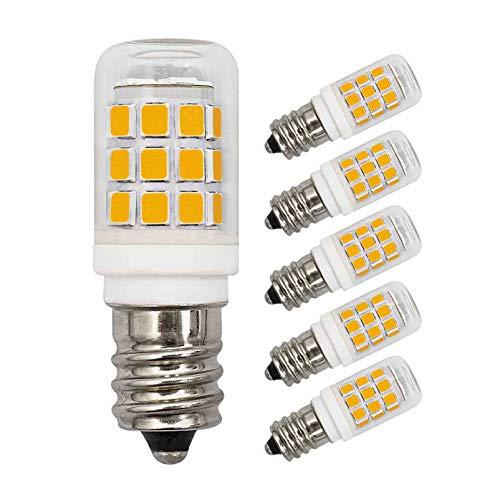 5 Pack E12 Led Bulb 3W Equivalent to 30W 25W Warm White 3000K 350 Lumen Dimmable AC 110V 120V C7 E12 Edison Base Small Night Light for Ceiling Fan Bedroom Salt Lighthouse Chandelier Lamp