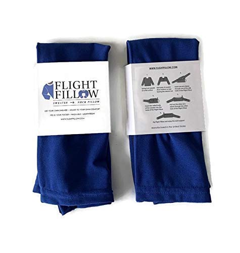 Royal Blue Flight Fillow - Small Travel Pillow, Airplane Pillow, Travel Neck Support, Best Travel Pillow For Long Haul Flights, Travel Accessories