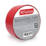 XFasten Double Sided Tape Acrylic Mounting Tape Removable, 1-Inch x 60-Inch