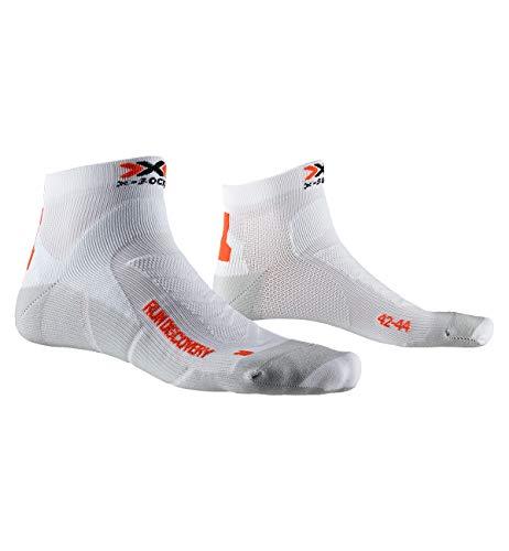 X-Socks Run Discovery Chaussette Mixte Adulte Blanc (Blanc/gris Dolomite), 42-44