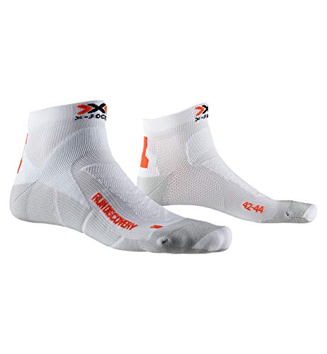X-Socks Socks Run Discovery, Arctic White/Dolomite Grey, 45-47, XS-RS18S19U-W008-45/47