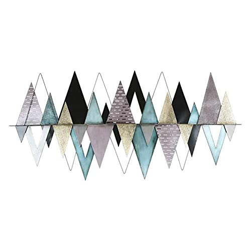 Peakfeng Arte Colgante de la Pared de Metal, decoración geométrica de Hierro Hueco de Hierro Hueco, 47.2 x 22, Utilizado para Colgantes de decoración de Pared Interior y al Aire Libre
