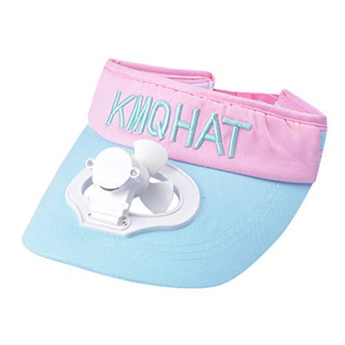 YWLINK Sommer Fan Baseball Kappe Einstellbar Herren Damen Caps KüHlender BaseballmüTze-Hut Atmungsaktiver USB Sonnenhut Sonnenschutz-Hut