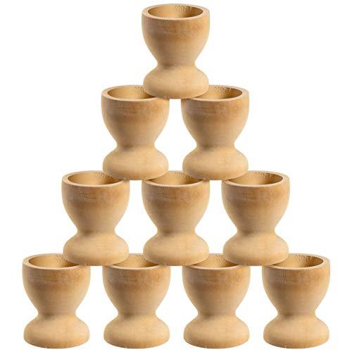 Tomaibaby 10 hueveras de madera para decoración de Pascua