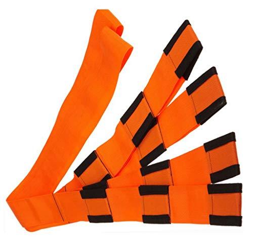 ZJ-SUMBRELLA Mobiliario Cinturón móvil Cuerda Cinturón de Transporte Muñequera Cinturón móvil Cinturón de Transporte 2 Personas Levantar y Mover Correas Cinturón de Transporte (Naranja)