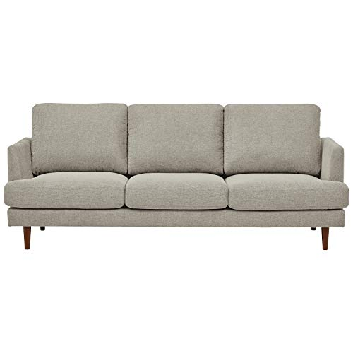 Rivet Goodwin Modern Sofa, 88.6'W, Light Grey
