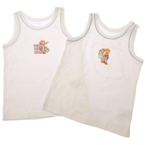 Bob der Baumeister Jungen Unterhemden (2 Stück) (2-3 Jahre) (weiß)