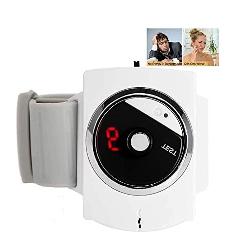 WOERD Antironquidos para Dormir Pulsera Infrarrojo Ronquido Reloj, Infrarrojo Inteligente Dispositivo Antirronquidos, Tapón de Ronquido Ayuda para El Sueño(Size:with 1pcs Electrode Pads)