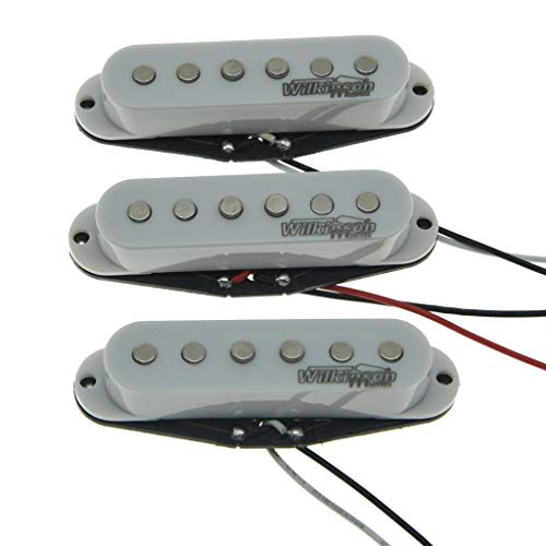 Wilkinson Lic White ST Strat Vintage Voice Single Coil Pickups Fits Stratocaster