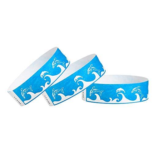 Wristco blu delfini 3/10,2cm Tyvek Wristbands 500 Count Scarpette a strappo Voltaic 3 Velcro Fade - Bambini