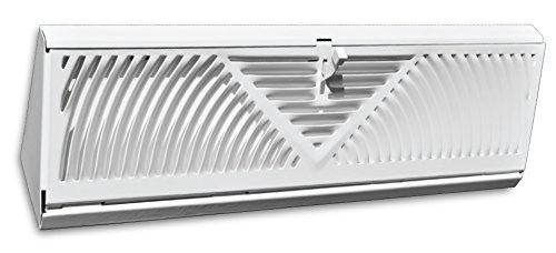 18' Corner Baseboard Grille - White - HVAC Corner Vent Cover