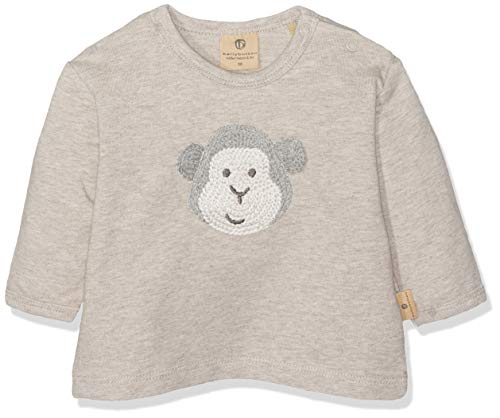 Bellybutton mother nature & me Baby-Jungen 1/1 Arm Sweatshirt, Beige (Walnuss Melange|Beige 8138), 80