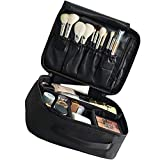 Kisem Bolso de Cosméticos , Portable Kit de Maquillaje Neceser , ( Negro ) Bolsa de Viaje Desmontable , 26x22x10 CM Portable Organizador Maletín para Maquillaje Maleta