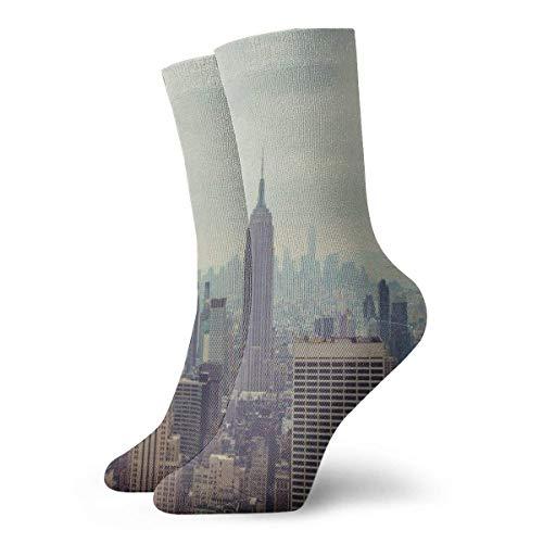 New York City Casual Fashion Crew Socks 30 cm for Sports Boot Hiking Running Design#375