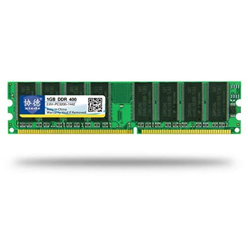 Candybarbar xiede DDR 400 1G Módulo de Memoria de Memoria para PC de Escritorio PC-3200 Compatible con procesador Intel y procesador AMD
