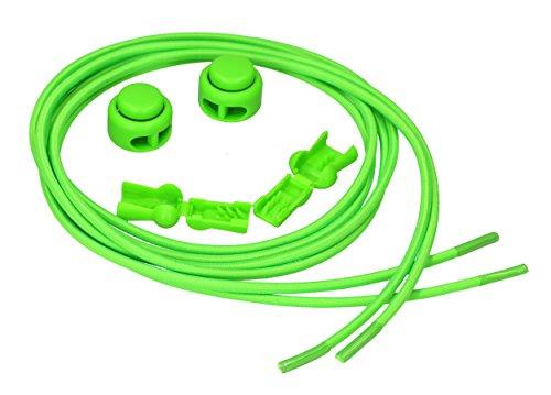 mumbi elastische Schnürsenkel mit Schnellspanner - Schnellschnürsystem in grün