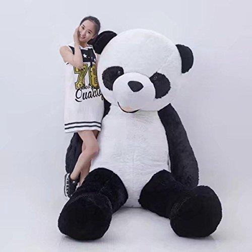 Riesen Panda Bär Pandabär Plüsch Plüschbär Teddy Schwarz Weiss Geschenk Kind Freundin Geburtstag Weihnachten 200cm XXL