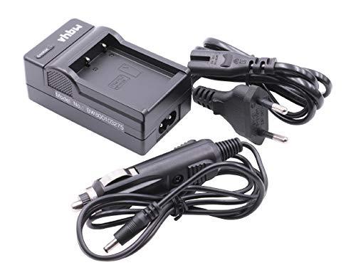 vhbw Cargador Compatible con Fuji/Fujifilm NP-W126, NP-W126s batería de cámara - Soporte + Adaptador Coche