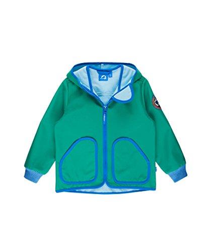 Finkid Tove Shell Zip-In Jacket Kids emerald/french Größe 80-90 2017 Funktionsjacke