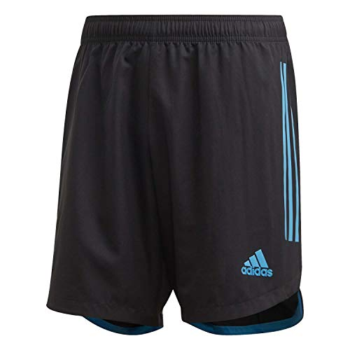 adidas Condivo 20 SHO Sport Shorts, Hombre, Black/Bold Aqua, XL ✅