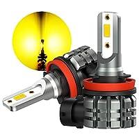 OXILAM フォグランプ H8 LED 2000LM 6000K H11 / H16 / H9 / H8 LED 12-24V DC適用 LED バルブ CSP-LEDチップ搭載 12ヶ月保証 2本セット (アンパー)