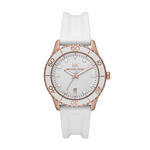 Michael Kors Reloj Analógico para Mujer de Cuarzo con Correa en Silicona MK6853