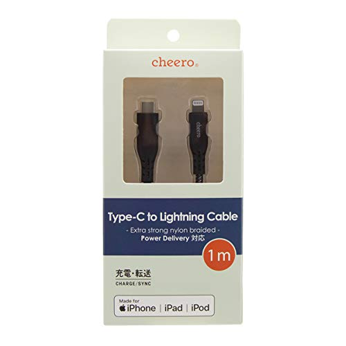 ティ・アール・エイ『cheero(チーロ)Type-CtoLightningCable(CHE-257-BS)』