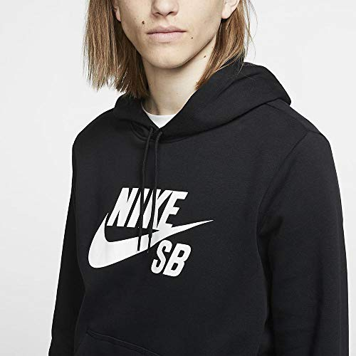 Nike Herren Hoodie SB Icon Po Essentials, Black/White, XS, AJ9733