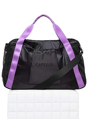 Capezio - Borsone motivazionale, taglia unica, colore: Nero/Viola
