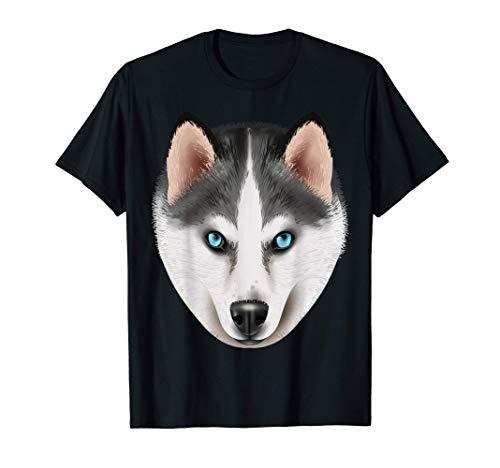 Disfraz de perro husky de Halloween Hombres Mujeres Niños Camiseta