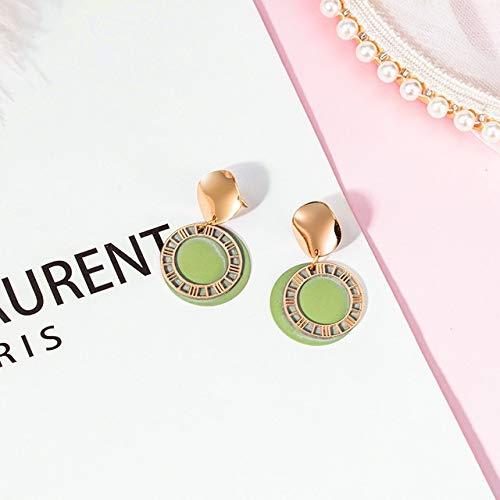 QWERTYU New Korean Declaration Geometric Long Wooden Earrings For Women Cute Pink Wedding Hanging Dangle Earring 2020 Fashion Jewelry LIJIANME (Color : VERMEIL)