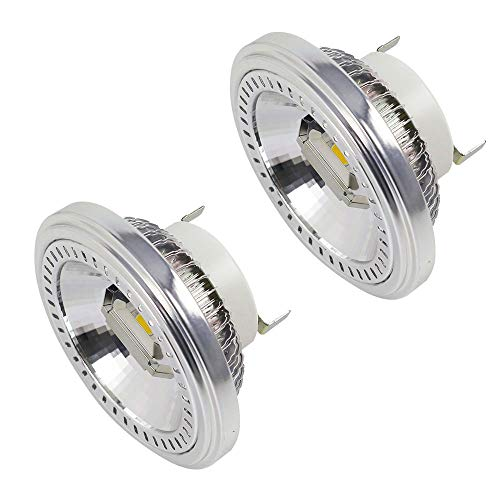MENGS 2-er Pack G53 AR111 LED Strahler 2x COB 15W LED Leuchtmittel Ersatz für 120W Halogenlampen Kaltweiß 6000K AC 85-265V
