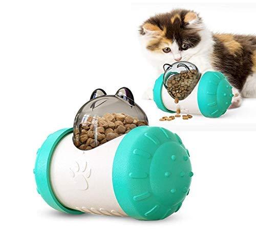 Alimentador lento para mascotas Dispensador de alimentos juguetes interactivos (azul) para mascotas pequeñas, perro o gato