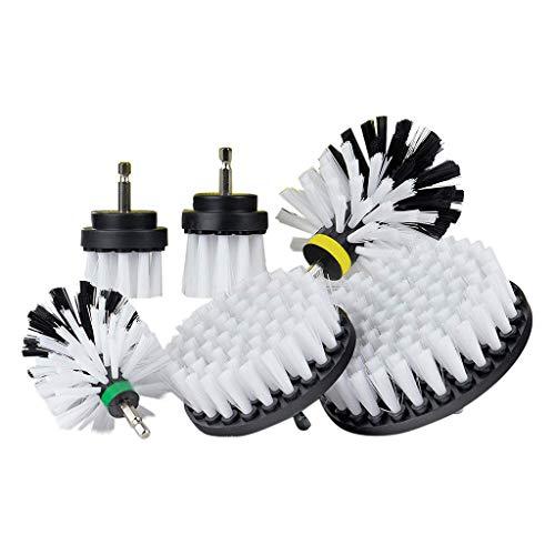 6 pezzi Drill Brush Ultimate Automotive Cleaning Kit Trapano Spazzola Cleaning Brush Power Scrubbing Auto Spazzola per auto, tappeto, bagno, fondo in legno, lavanderia posate per pesce bianco