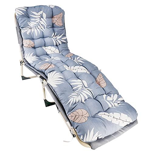 Solstol kuddar, ersättning solsäng kuddar, tjock trädgård fåtölj, lounge stol kuddar bomull soffa halkskydd hög rygg stol dyna för inomhus utomhus (D)