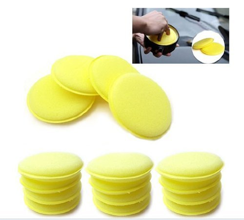 12pcs Waxing Polish Wax Foam Sponge Applicator Pads Fit for Clean Car Vehicle Auto Glass High_quality Yellow Useful NEW